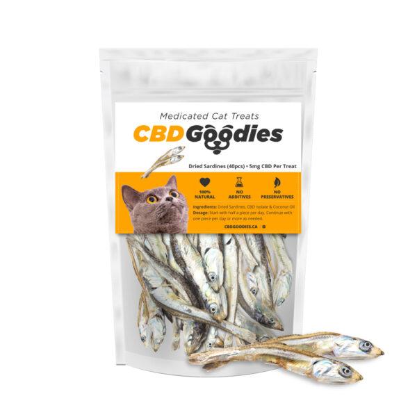 CBD Goodies, Cat Treats, 100mg, All Natural