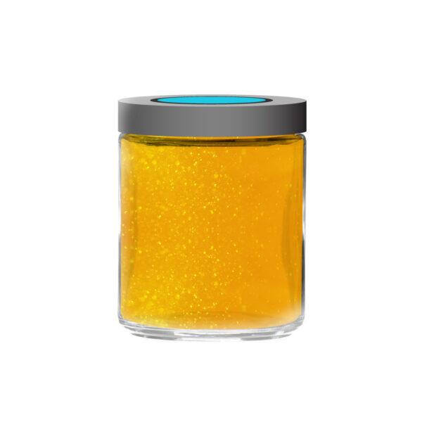 A jar of Eva's CBD Honey.
