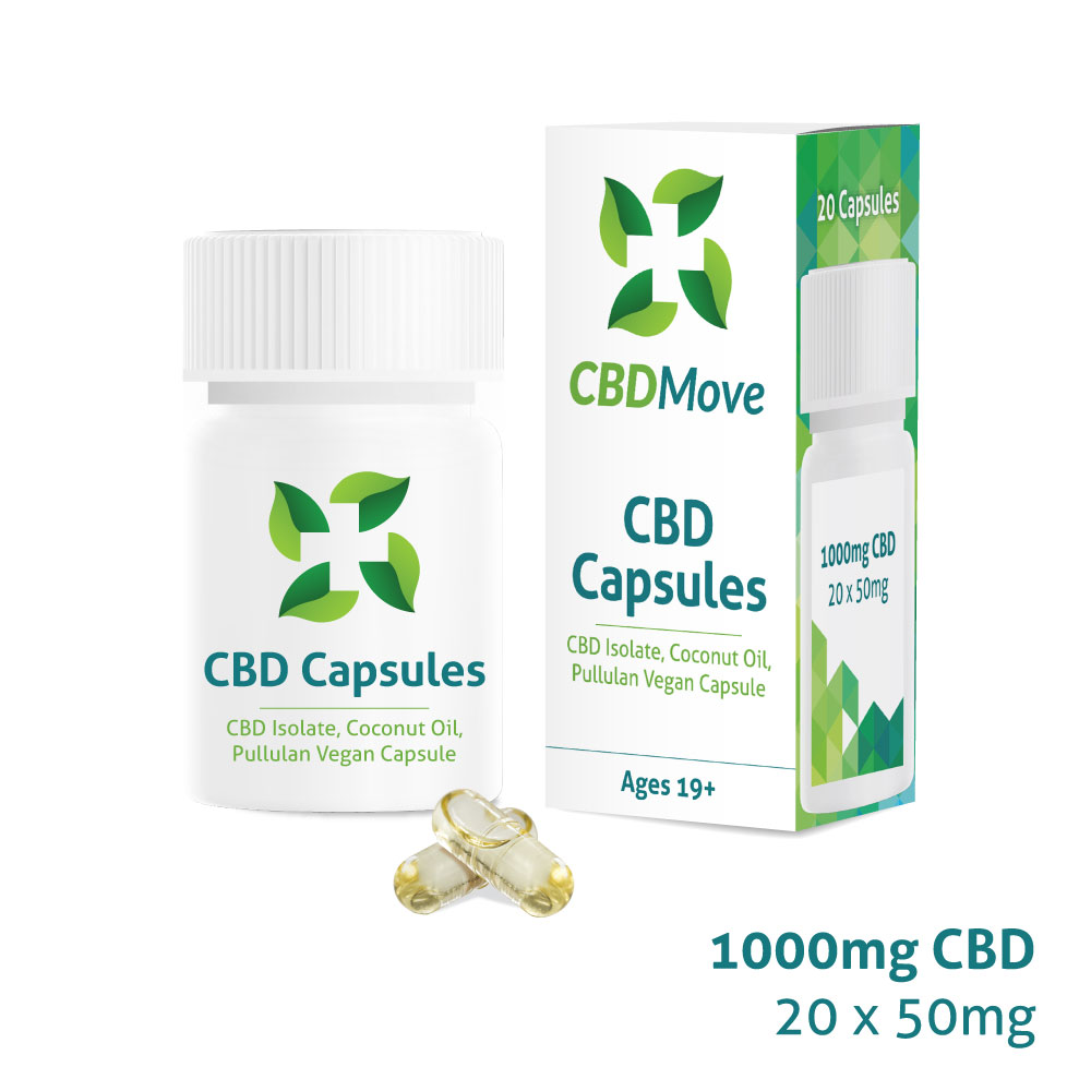 CBD Move Capsules   CBD Cargo